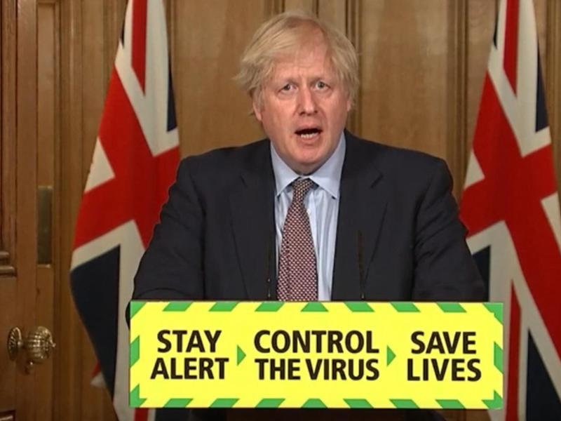 Die Regierung in London steht wegen ihres Umgangs mit der Coronavirus-Pandemie seit Monaten stark in der Kritik. Foto: Pa Video/PA Wire/dpa