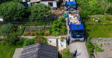 In der Laube des Kleingartenvereins sollen mehrere Männer zwei Jungen schwer missbraucht haben. Foto: Guido Kirchner/dpa