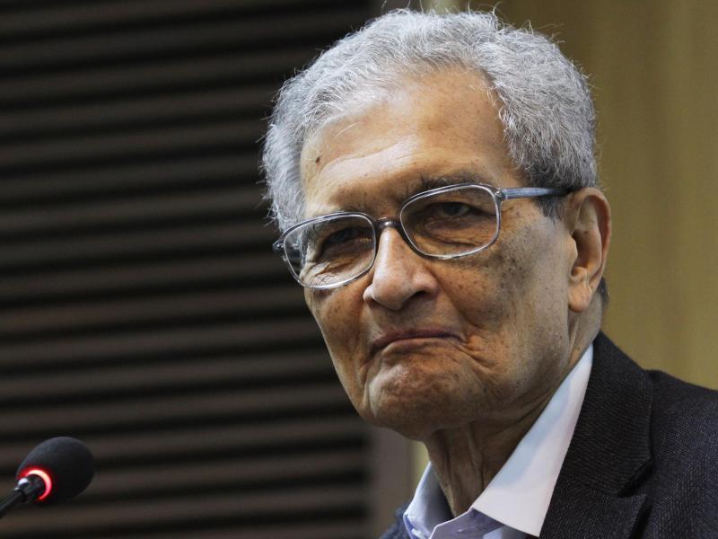 Amartya Sen erhält den Friedenspreis des Deutschen Buchhandels 2020. Foto: Anindito Mukherjee/EPA/dpa