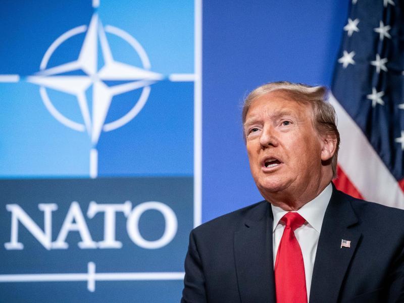 US-Präsident Trump im Dezember vergangenenJahres bei einem Nato-Gipfel in Großbritannien. Foto: Michael Kappeler/dpa