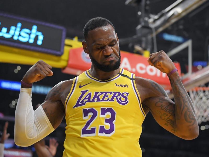 LeBron James von den Los Angeles Lakers ist der Superstar der NBA. Foto: Mark J. Terrill/AP/dpa