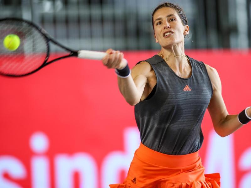 Andrea Petkovic unterlag Petra Kvitova nur knapp. Foto: Andreas Gora/dpa