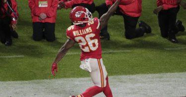 Hat sich entschlossen auf die NFL-Saison zu verzichten: Damien Williams von den Kansas City Chiefs. Foto: Charlie Riedel/AP/dpa