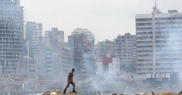 Nach der Katastrophe von Beirut sind 16 Menschen festgenommen worden. Foto: Thibault Camus/AP/dpa