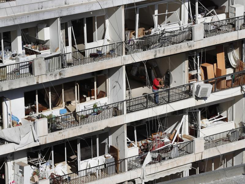 Zehntausende Wohnungen der libanesischen Hauptstadt sind unbewohnbar geworden. Foto: Hussein Malla/AP/dpa