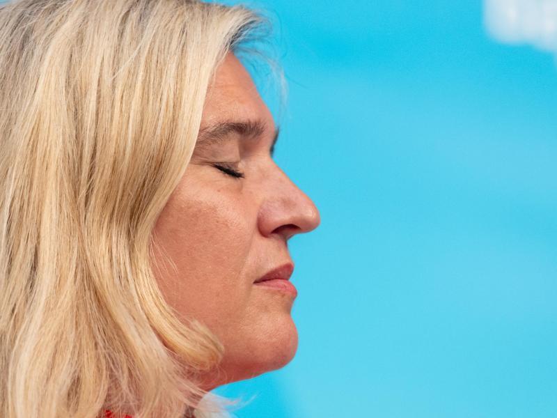 Soll deutlich früher von der Corona-Testpanne in Bayern informiert worden sein:Melanie Huml (CSU), Staatsministerin für Gesundheit und Pflege. Foto: Peter Kneffel/dpa