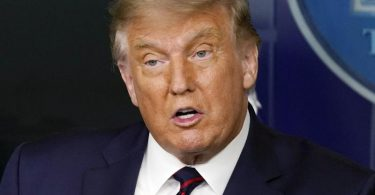 Behandlung mit Blutplasma: Trump spricht bei einer Pressekonferenz im Weißen Haus von einer «wirkmächtigen Therapie» mit einer «unglaublichen Erfolgsrate». Foto: Alex Brandon/AP/dpa