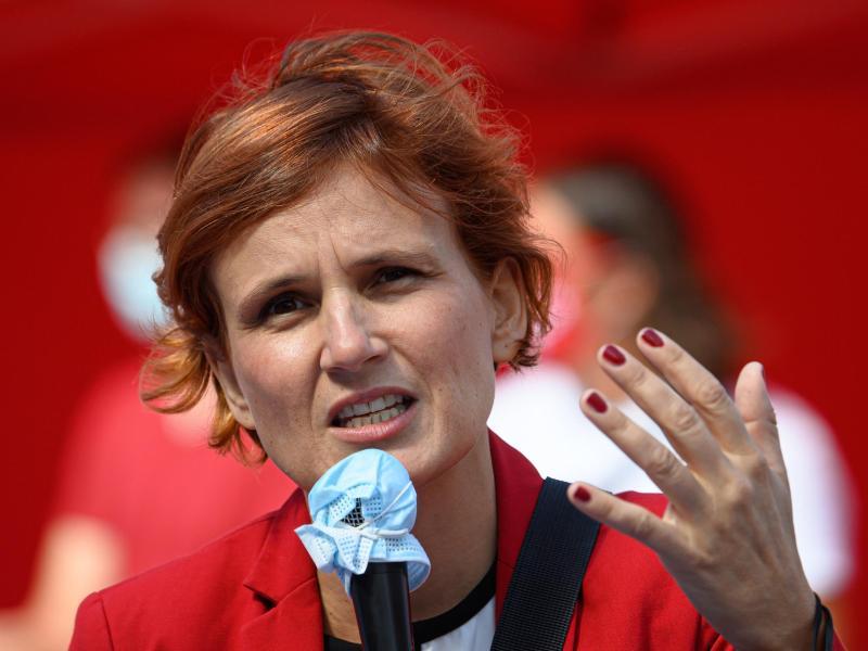 Linken-Chefin Katja Kipping will nicht erneut als Parteivorsitzende der Linken antreten. Foto: Robert Michael/dpa-Zentralbild/dpa