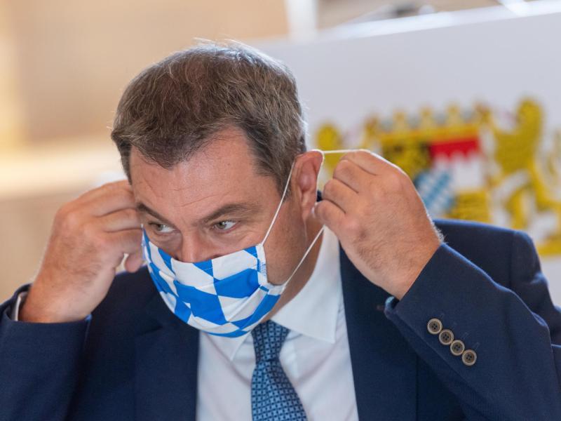 Bayerns Ministerpräsident Markus Söder während des Bildungsgipfels in München. Foto: Peter Kneffel/dpa Pool/dpa