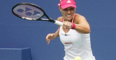 Angelique Kerber hat ihr Auftaktmatch bei den US Open gewonnen. Foto: Frank Franklin/AP/dpa