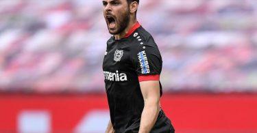 Kevin Volland geht von Bayer 04 Leverkusen zur AS Monaco. Foto: Martin Meissner/AP/POOL/dpa