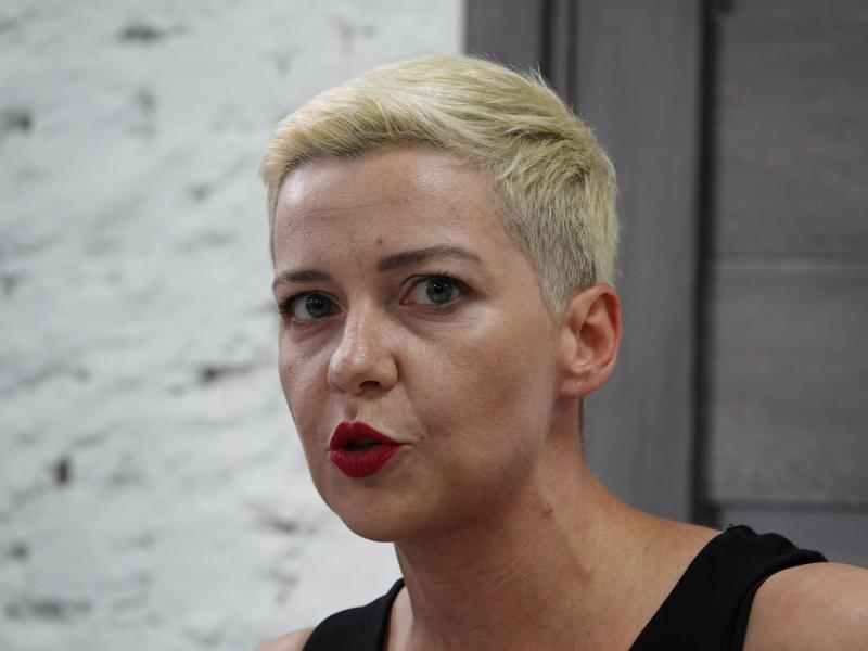 Oppositionspolitikerin Maria Kolesnikowa. Foto: Ulf Mauder/dpa