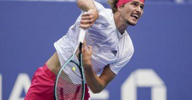 Hat das Finale der US Open erreicht: Alexander Zverev aus Deutschland in Aktion. Foto: Seth Wenig/AP/dpa