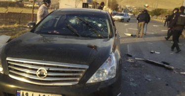 Iran zufolge zufolge wurde der Atomphysiker 'von Terroristen' in seinem Wagen angeschossen und schwer verletzt. Er sei später im Krankenhaus seinen Verletzungen erlegen. Foto: Uncredited/Fars News Agency/AP/dpa