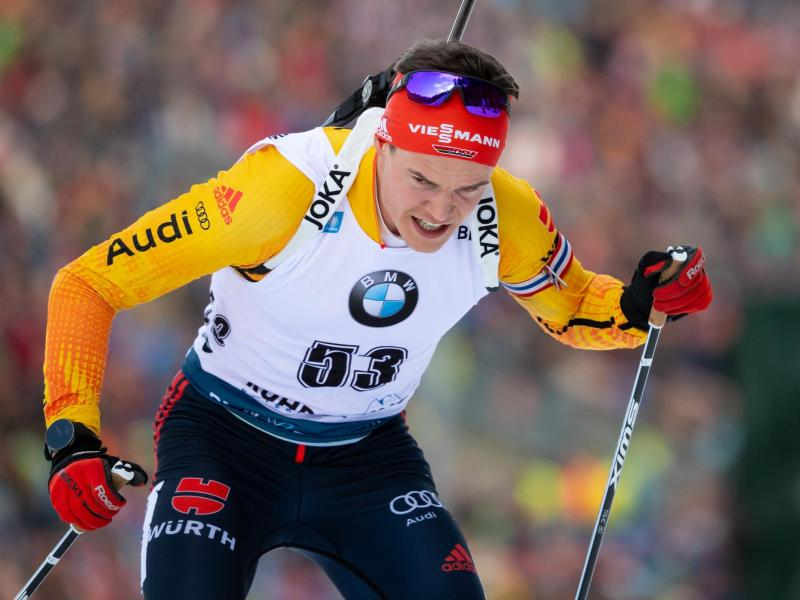 Biathlet Philipp Horn musste wegen eines nicht eindeutigen Corona-Testergebnisses vorzeitig die Heimreise antreten. Foto: Sven Hoppe/dpa