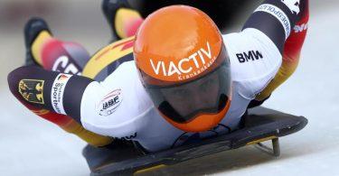 Wurde beim Weltcup in Innsbruck/Igls Dritte; Tina Hermann. Foto: Matthias Schrader/AP/dpa