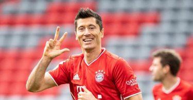 Steht vor seinem 200. Bundesliga-Spiel im Bayern-Trikot: Torgarant Robert Lewandowski. Foto: Matthias Balk/dpa