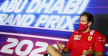 Gibt in Abu Dhabi seinen Abschied bei Ferrari: Sebastian Vettel. Foto: Mark Sutton/Pool Motorsport Images/AP/dpa