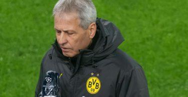 Muss auf den verletzten Erling Haaland verzichten: Dortmunds Trainer Lucien Favre. Foto: Bernd Thissen/dpa-Pool/dpa