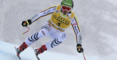 Fuhr auf Rang acht beim Super-G in Val d'Isère: Andreas Sander. Foto: Gabriele Facciotti/AP/dpa