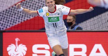 Xenia Smits bejubelt einen Treffer. Foto: Bo Amstrup/Ritzau Scanpix/dpa