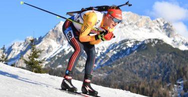 Benedikt Doll kam beim Verfolgerrennen als 13. ins Ziel. Foto: Barbara Gindl/APA/dpa