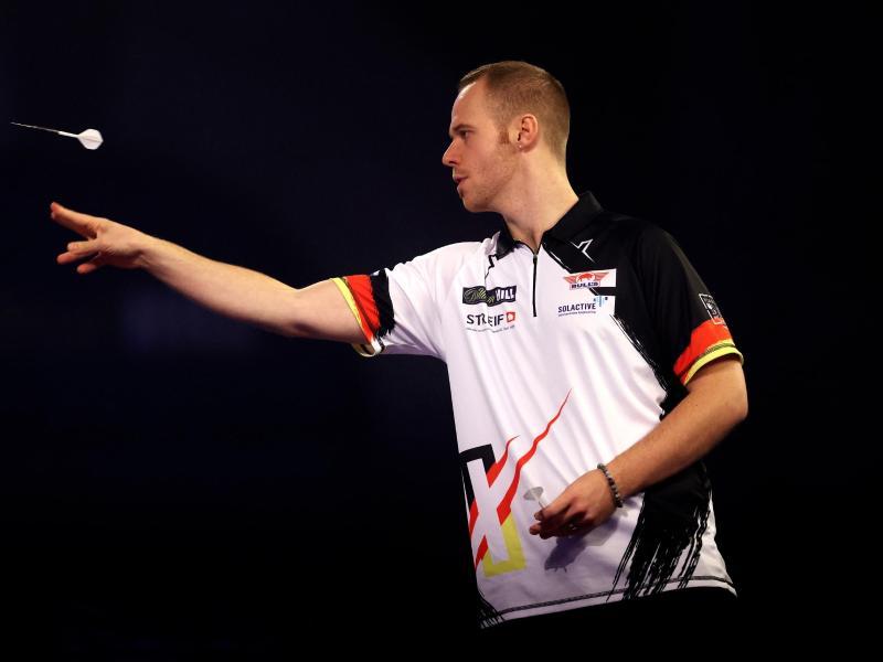 Max Hopp ist in der zweiten Runde der Darts-WM ausgeschieden. Foto: Steven Paston/PA Wire/dpa