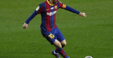 Lionel Messi erzielte gegen Valencia sein 643. Tor für Barcelona. Foto: Joan Monfort/AP/dpa
