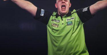 Michael van Gerwen will ins Halbfinale einziehen. Foto: Kieran Cleeves/PA Wire/dpa