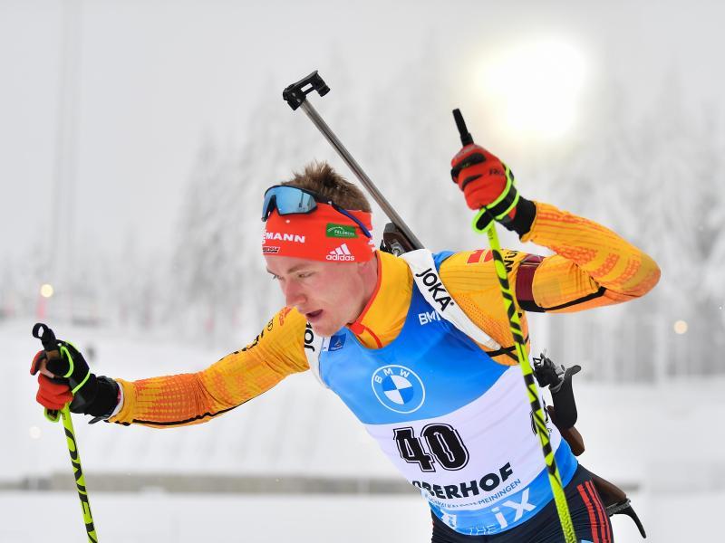Benedikt Doll ist mit den deutschen Biathleten in Oberhof gefordert. Foto: Martin Schutt/dpa-Zentralbild/dpa