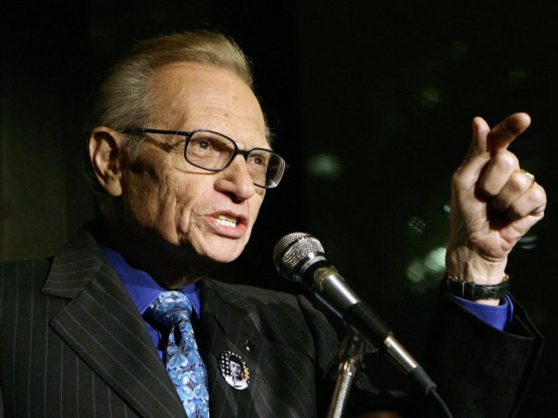 Larry King ist im Alter von 87 Jahren gestorben. Foto: Stuart Ramson/AP/dpa