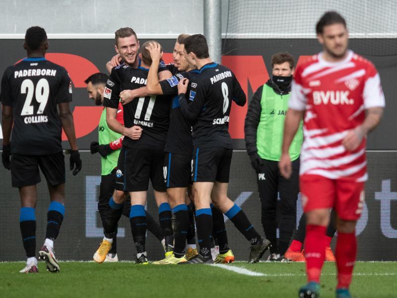 Paderborn durfte sich zum Hinrunden-Abschluss über einen Heimsieg gegen Würzburg freuen. Foto: Bernd Thissen/dpa