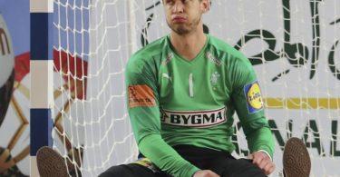 Torhüter Niklas Landin Jacobsen soll im WM-Finale gegen Schweden das dänische Tor sauberhalten. Foto: Mohamed Abd El Ghany/Pool Reuters/AP/dpa