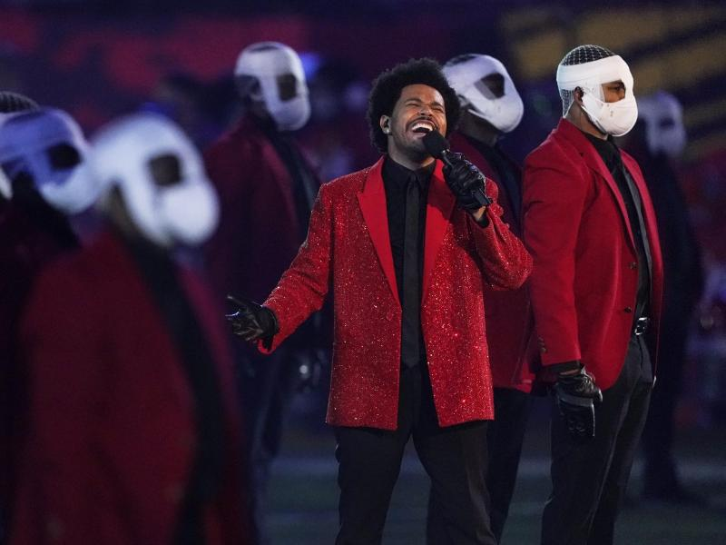 The Weeknd sorgte in der Halbzeitshow für Unterhaltung. Foto: Ashley Landis/AP/dpa