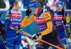 Franziska Preuß tritt bei der Biathlon-WM in der Mixedstaffel an. Foto: Sven Hoppe/dpa