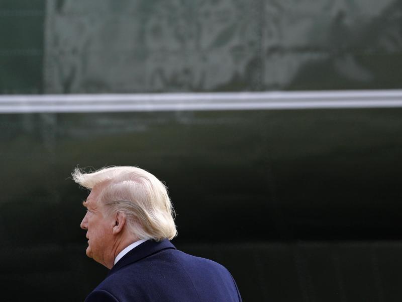 Die Ankläger im US-Senat fordern eine Verurteilung von Donald Trump. Foto: Patrick Semansky/AP/dpa