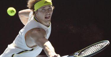 Locker ins Achtelfinale der Australian Open: Alexander Zverev in Aktion. Foto: Andy Brownbill/AP/dpa