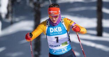 Peilt im Verfolgungsrennen in Pokljuka eine WM-Medaille an: Denise Herrmann. Foto: Sven Hoppe/dpa
