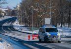 Ein Einsatzfahrzeug der Bundespolizei steht an der bayerisch-tschechischen Grenze bei Schirnding. Foto: Nicolas Armer/dpa/Archiv