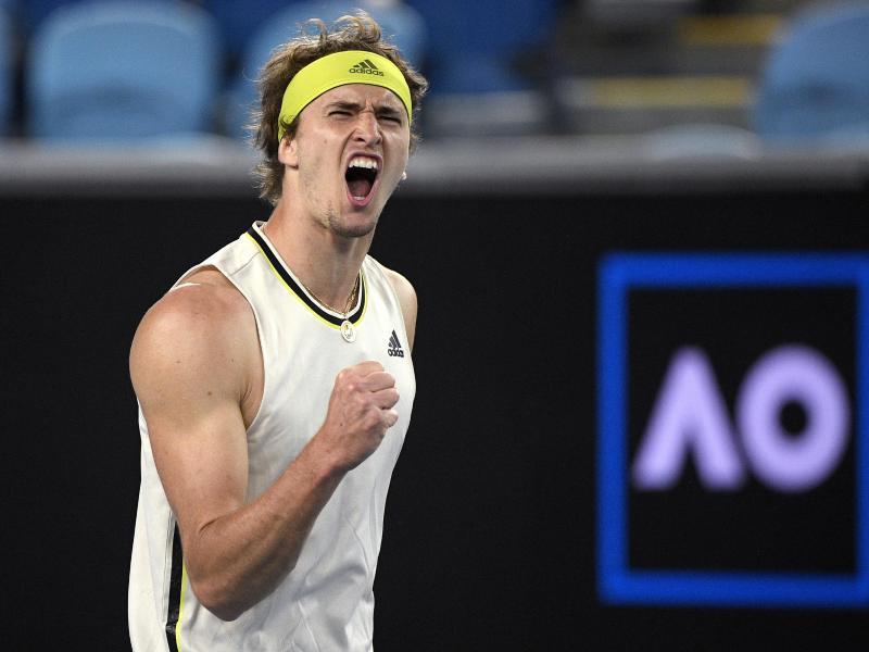 Alexander Zverev steht im Viertelfinale der Australian Open. Foto: Andy Brownbill/AP/dpa