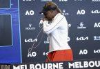 Serena Williams zeigte bei der Pressekonferenz nach ihrer Niederlage Emotionen. Foto: Rob Prezioso/Tennis Australia/AP/dpa
