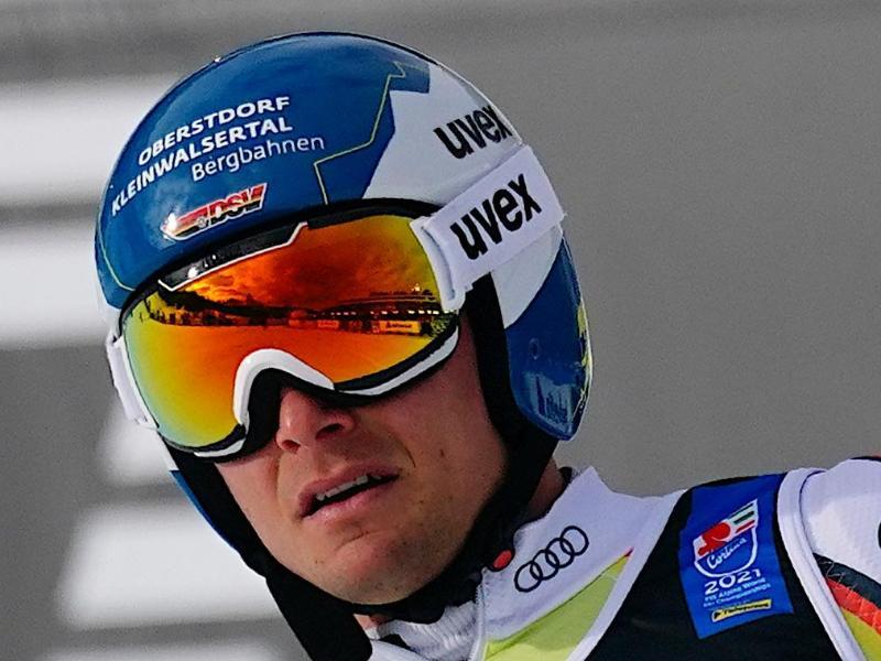 Will nach Bronze mit der Mannschaft nun im Riesenslalom eine Medaille bei der Ski-WM in Cortina einfahren:Alexander Schmid. Foto: Michael Kappeler/dpa