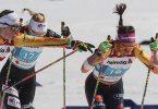 Liefen beim WM-Teamsprint in die Top-10:Victoria Karl (l) und Sofie Krehl. Foto: Karl-Josef Hildenbrand/dpa