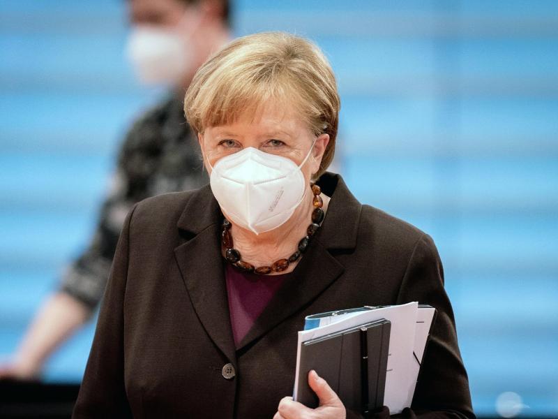 Berät mit Bund und Ländern über mögliche Lockerungen der Corona-Beschränkungen: Bundeskanzlerin Angela Merkel. Foto: Kay Nietfeld/dpa Pool/dpa