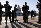 US-Sicherheitskräfte haben nach Hinweisen auf einen möglichen erneuten Angriff auf das US-Kapitol die Sicherheitsvorkehrungen am Sitz des Kongresses verschärft. Foto: J. Scott Applewhite/AP/dpa