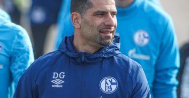 Der neue Trainer des FC Schalke 04, Dimitrios Grammozis, bemüht sich, Zuversicht auszustrahlen. Foto: Tim Rehbein/FC Schalke 04/dpa