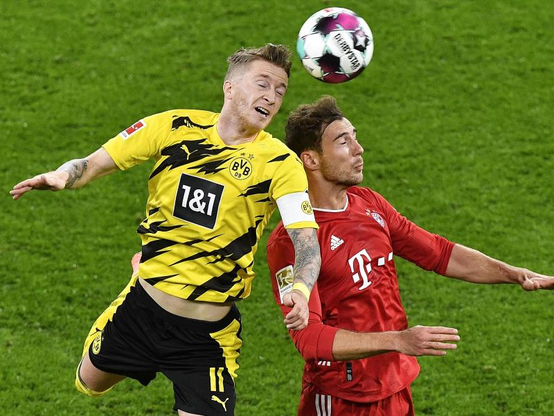 Der FC Bayern München empfängt am 24. Spieltag Borussia Dortmund. Foto: Martin Meissner/Pool AP/dpa