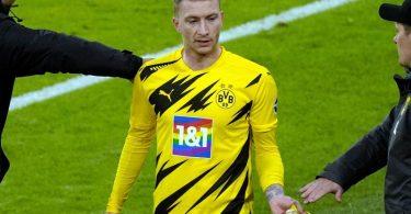 BVB-Kapitän Marco Reus fühlte sich benachteiligt. Foto: Günther Schiffmann/AFP-POOL/dpa