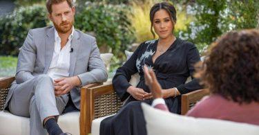 Prinz Harry und Herzogin Meghan sprechen mit Oprah Winfrey über das Leben am britischen Königshaus. Foto: Joe Pugliese/Harpo Productions/PA Media/dpa