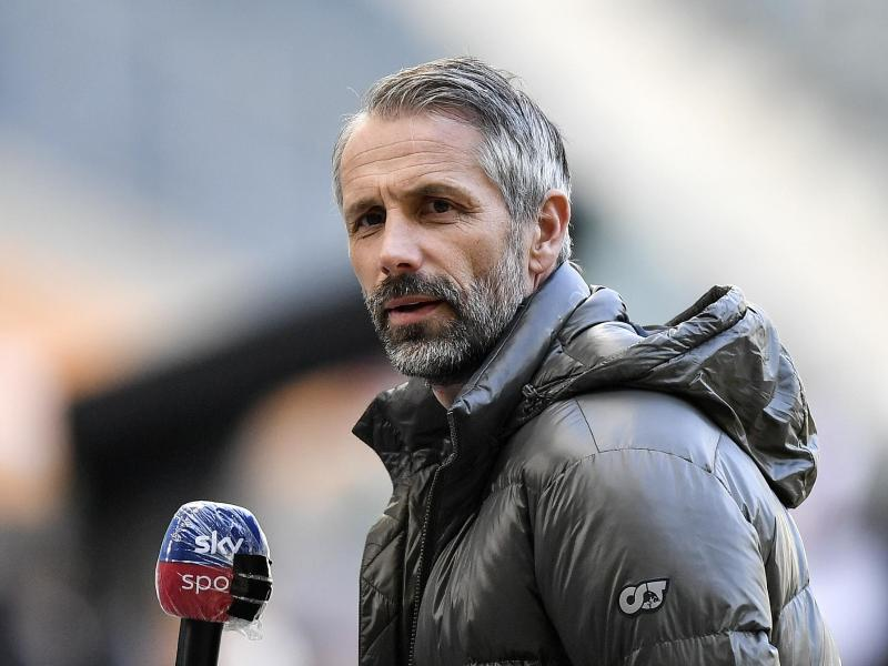 Will gegen Augsburg mit der Borussia den Negativtrend stoppen:Gladbach-Coach Marco Rose. Foto: Martin Meissner/Pool AP/dpa